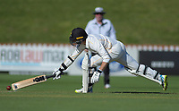 Wellington's Devon Conway narrowly avoids being stumped during day one of the Plunket Shield cricket match between the Wellington Firebirds and Canterbury at Basin Reserve in Wellington, New Zealand on Tuesday, 29 October 2019. Photo: Dave Lintott / lintottphoto.co.nz