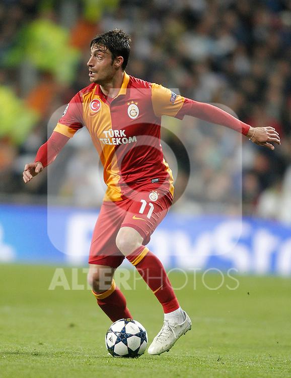 Galatasaray's Albert Riera during UEFA Champions League match. April 03, 2013. (ALTERPHOTOS/Alvaro Hernandez)