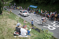 Olivier Naesen (BEL/IAM) storming by<br /> <br /> Stage 18 (ITT) - Sallanches › Megève (17km)<br /> 103rd Tour de France 2016