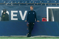 FOXBOROUGH, MA - SEPTEMBER 02: New York City FC coach Ronny Deila watches the team during a game between New York City FC and New England Revolution at Gillette Stadium on September 02, 2020 in Foxborough, Massachusetts.