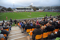 A general view from the stands during the rugby union match between the Wellington Lions and Canterbury at Hutt Recreation Ground, Wellington, New Zealand on Friday, 9 August 2013. Photo: Dave Lintott / lintottphoto.co.nz