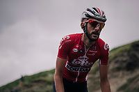 Jelle Vanendert (BEL/Lotto-Soudal) up the brutal Col du Portet (HC/2250m/16km at 8.7%/Souvenir Henri Desgrange) in this historically short stage (only 65km)<br /> <br /> Stage 17: Bagnères-de-Luchon > Saint-Lary-Soulan (65km)<br /> <br /> 105th Tour de France 2018<br /> ©kramon