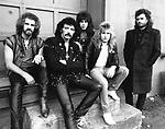 Black Sabbath 1985 Geoff Nicholls, Tony Iommi, Dave Spitz, Eric Singer, Glenn Hughes.© Chris Walter..