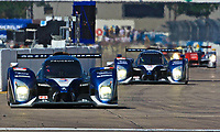 The pole-sitting #8 Peugeot 908 of Staphane Sarrazin, Franck Montagny, and Pedro Lamy leads early in the 12 Hours of Sebring, Sebring International Raceway, Sebring, FL, March 19, 2011.  (Photo by Brian Cleary/www.bcpix.com)