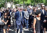 Sidney TOLEDANO - Lionel JOSPIN et sa compagne Sylviane AGACINSKI - Obseques Sonia Rykiel - Cimetiere du Montparnasse - Paris - FRANCE