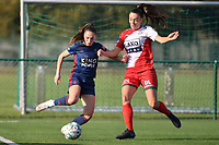 pictured during a female soccer game between SV Zulte - Waregem and Oud Heverlee Leuven on the sixth matchday of the 2021 - 2022 season of Belgian Scooore Womens Super League , saturday 9 of October 2021  in Zulte , Belgium . PHOTO SPORTPIX | DIRK VUYLSTEKE