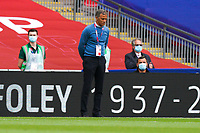 Northampton Town manager Keith Curle during the Sky Bet League 2 PLAY-OFF Final match between Exeter City and Northampton Town at Wembley Stadium, London, England on 29 June 2020. Photo by Andy Rowland.