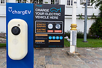 Parking Spot Reserved for Electric Vehicle, Ipoh, Malaysia.