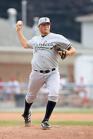 July 9th 2007:  Fred Jones of the Staten Island Yankees, Class-A affiliate of the New York Yankees, at Dwyer Stadium in Batavia, NY.  Photo by:  Mike Janes/Four Seam Images
