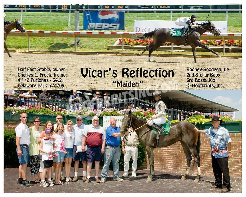 Vicar's Reflection winning at Delaware Park on 7/4/09