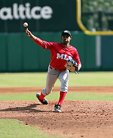 Denny Larrondo participates in the MLB International Showcase at Estadio Quisqeya on February 22-23, 2017 in Santo Domingo, Dominican Republic.