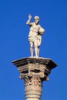 Säulen mit Redentore,  Piazza dei Signorie, Vicenza, Venetien-Friaul, Italien, Unesco-Weltkulturerbe