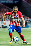 Yannick Ferreira Carrasco of Atletico de Madrid in action during the La Liga 2017-18 match between Atletico de Madrid and Malaga CF at Wanda Metropolitano on 16 September 2017 in Madrid, Spain. Photo by Diego Gonzalez / Power Sport Images