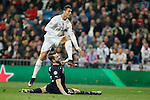 Real Madrid´s Cristiano Ronaldo and Malmo´s Arnason during 2015/16 Champions League soccer match between Real Madrid and Malmo at Santiago Bernabeu stadium in Madrid, Spain. December 08, 2014. (ALTERPHOTOS/Victor Blanco)