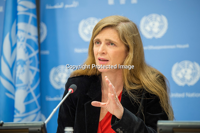 Samantha Power, outgoing United States Permanent Representative to the United Nations, addresses her final press conference in her current capacity.