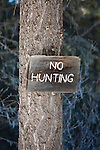 A no hunting sign in Montana