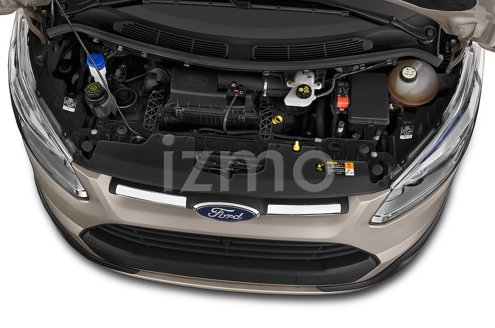 Car Stock 2013 Ford TOURNEO CUSTOM TITANIUM 5 Door Combi Engine high angle detail view