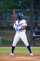 AZL Dodgers right fielder Felix Osorio (27) at bat against the AZL Brewers on July 25, 2017 at Camelback Ranch in Glendale, Arizona. AZL Dodgers defeated the AZL Brewers 8-3. (Zachary Lucy/Four Seam Images)