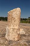 Israel, Shephelah region. Roman milestone in Beth Guvrin