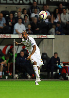 Pictured: Kemy Agustien of Swansea. Tuesday 28 August 2012<br /> Re: Capital One Cup game, Swansea City FC v Barnsley at the Liberty Stadium, south Wales.