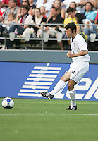 Michael Parkhurst kicks the ball. USA defeated Grenada 4-0 during the First Round of the 2009 CONCACAF Gold Cup at Qwest Field in Seattle, Washington on July 4, 2009.
