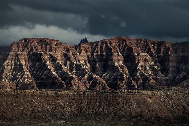 The late afternoon sun sets on Gosseberry Mesa near Zion National Park, Utah