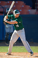 Farmingdale Rams third baseman Michael Ciullo (19) at bat during a game against the Union Dutchmen on February 21, 2016 at Chain of Lakes Stadium in Winter Haven, Florida.  Farmingdale defeated Union 17-5.  (Mike Janes/Four Seam Images)