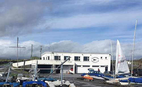 Galway Bay Sailing Club as it is today. In 1982 it was still in its original smaller form when the Mermaid Class descended upon Renville for their annual championship, and turned the GBSC compound into a self-sufficient and highly sociable sailing village