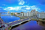 Vista do Rio Capibaribe em Recife. Pernambuco. 1985. Foto de Juca Martins.