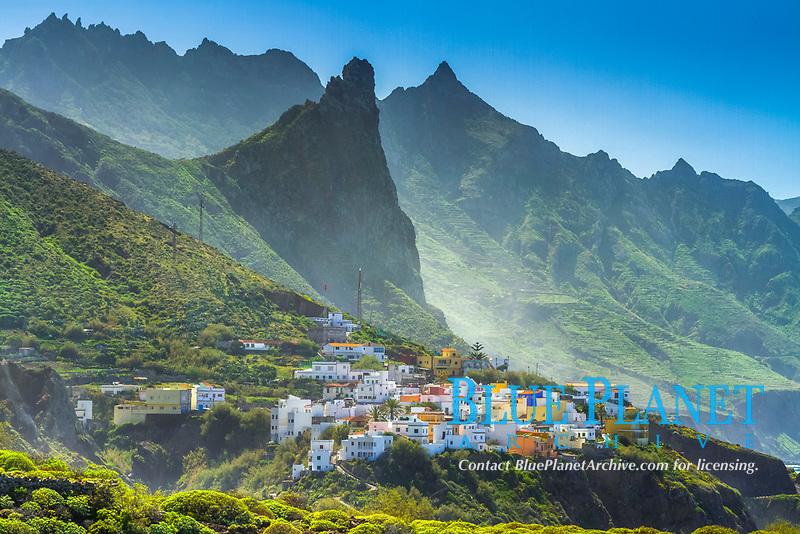 Taganana, a small Spanish village, Macizo de Anaga mountain range, Tenerife, Canary Islands, Spain, Atlantic Ocean