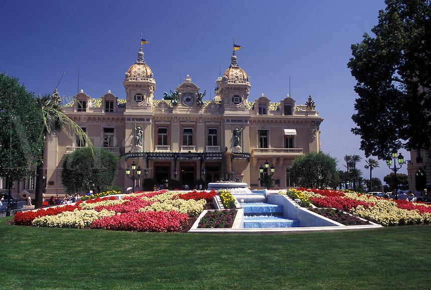 casino, Monaco, Monte Carlo, Casino of Monte Carlo in the Principality of Monaco.