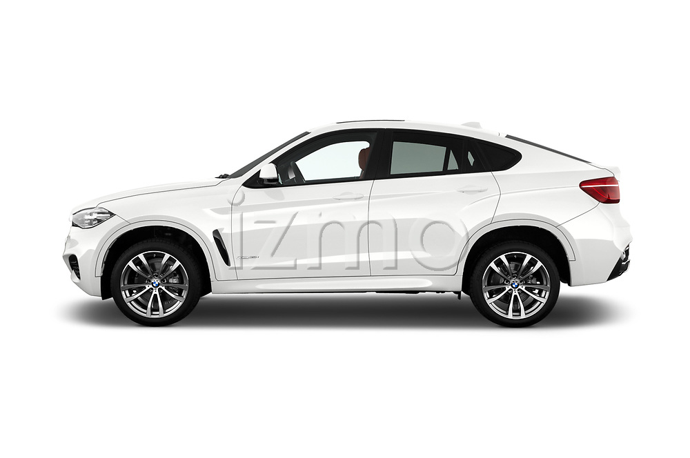 Car Driver side profile view of a 2017 BMW X6 M-sportpakket 5 Door SUV Side View