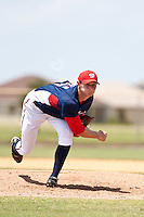 Zachary Gerler of the Gulf Coast League Nationals during the game against the Gulf Coast League Mets June 27 2010 at the Washington Nationals complex in Viera, Florida.  Photo By Scott Jontes/Four Seam Images