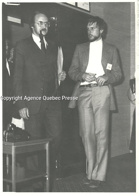 Guy Tardif en 1978, date exacte inconnue<br /> <br /> <br /> PHOTO :  Agence Quebec Presse