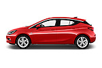 Car Driver side profile view of a 2016 Opel Astra Dynamic 4 Door Hatchback Side View