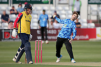 Will Beer in bowling action for Sussex during Essex Eagles vs Sussex Sharks, Vitality Blast T20 Cricket at The Cloudfm County Ground on 15th June 2021