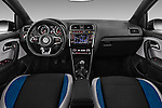 Stock photo of straight dashboard view of 2016 Volkswagen Polo Blue-GT 5 Door Hatchback Dashboard