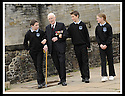 02/06/2008   Copyright Pic: James Stewart.File Name : sct_jspa09_veterans.FORMER ROYAL ENGINEER, LIEUTENANT COLONEL FRANK SAUNDERS, 101, TELLS SOME OF HIS WAR STORIES TO RYAN REYNOLDS, EUAN WEST AND DAYNA MCQUILLIAN FROM CORNTON PRIMARY AT THE VETERANS DAY EVENT LAUNCH AT STIRLING CASTLE.....James Stewart Photo Agency 19 Carronlea Drive, Falkirk. FK2 8DN      Vat Reg No. 607 6932 25.Studio      : +44 (0)1324 611191 .Mobile      : +44 (0)7721 416997.E-mail  :  jim@jspa.co.uk.If you require further information then contact Jim Stewart on any of the numbers above........