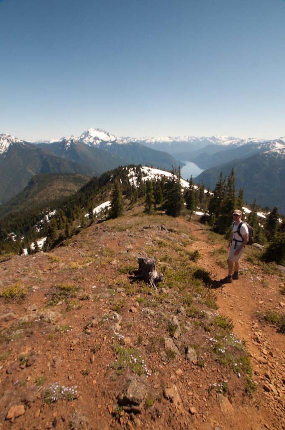Joe on the Way Down Desolation Peak, North Cascades National Park, Washington, US