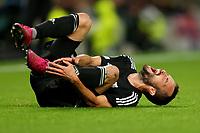 30th September 2021; Tottenham Hotspur Stadium. Tottenham, London, England; UEFA Conference League football, Tottenham v NS Mura: Ziga Kous of NS Mura goes down injured