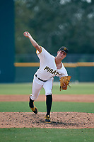 Pittsburgh Pirates pitcher David Lee (28) delivers a pitch during an Instructional League game against the New York Yankees on September 28, 2017 at Pirate City in Bradenton, Florida.  (Mike Janes/Four Seam Images)