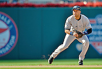 16 June 2012: New York Yankees shortstop Derek Jeter in action against the Washington Nationals at Nationals Park in Washington, DC. The Yankees defeated the Nationals in 14 innings by a score of 5-3, taking the second game of their 3-game series. Mandatory Credit: Ed Wolfstein Photo