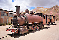 BOLIVIA - PULACAYO  (HUANCHACA) MINE<br /> First steam engines and  railways served the Antofagasta - Pulacayo stretch in the last century<br /> <br /> Full size: 69,2 MB