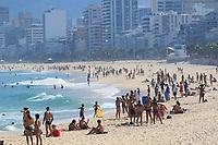 20/06/2020 - MOVIMENTAÇÃO PRAIA DE IPANEMA-RJ