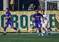 5 October 2019: University at Albany Great Dane Midfielder Anton Friberg, a Freshman from Falkenberg, Sweden, in action against the University of Vermont Catamounts at Virtue Field in Burlington, Vermont. The Catamounts fell to the visiting Danes 3-1 in America East, Division 1 play. Mandatory Credit: Ed Wolfstein Photo *** RAW (NEF) Image File Available ***