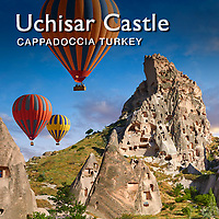 Pictures & Images of Uchisar Castle and Fairy Chimney cave houses, Cappadocia, Turkey -