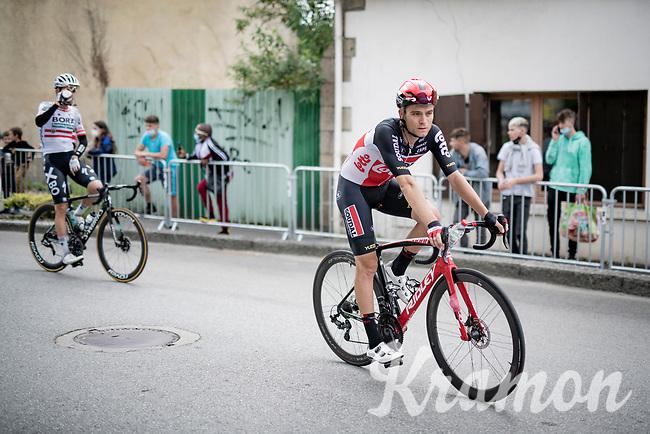 Tosh Van der Sande (BEL/Lotto Soudal) @ finish line roll-out<br /> <br /> Stage 3 from Lorient to Pontivy (183km)<br /> 108th Tour de France 2021 (2.UWT)<br /> <br /> ©kramon