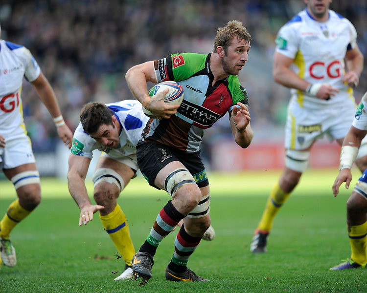 Chris Robshaw of Harlequins in action during the Heineken Cup Round 5 match between Harlequins and ASM Clermont Auvergne at the Twickenham Stoop on Saturday 11th January 2014 (Photo by Rob Munro)