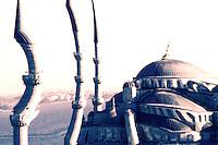 Blue Mosque digitally manipulated, Istanbul, Turkey