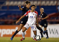Raquel Rodriguez of Costa Rica controls the ball. USWNT vs Costa Rica in the 2010 CONCACAF Women's World Cup Qualifying tournament held at Estadio Quintana Roo in Cancun, Mexico on November 8th, 2010.